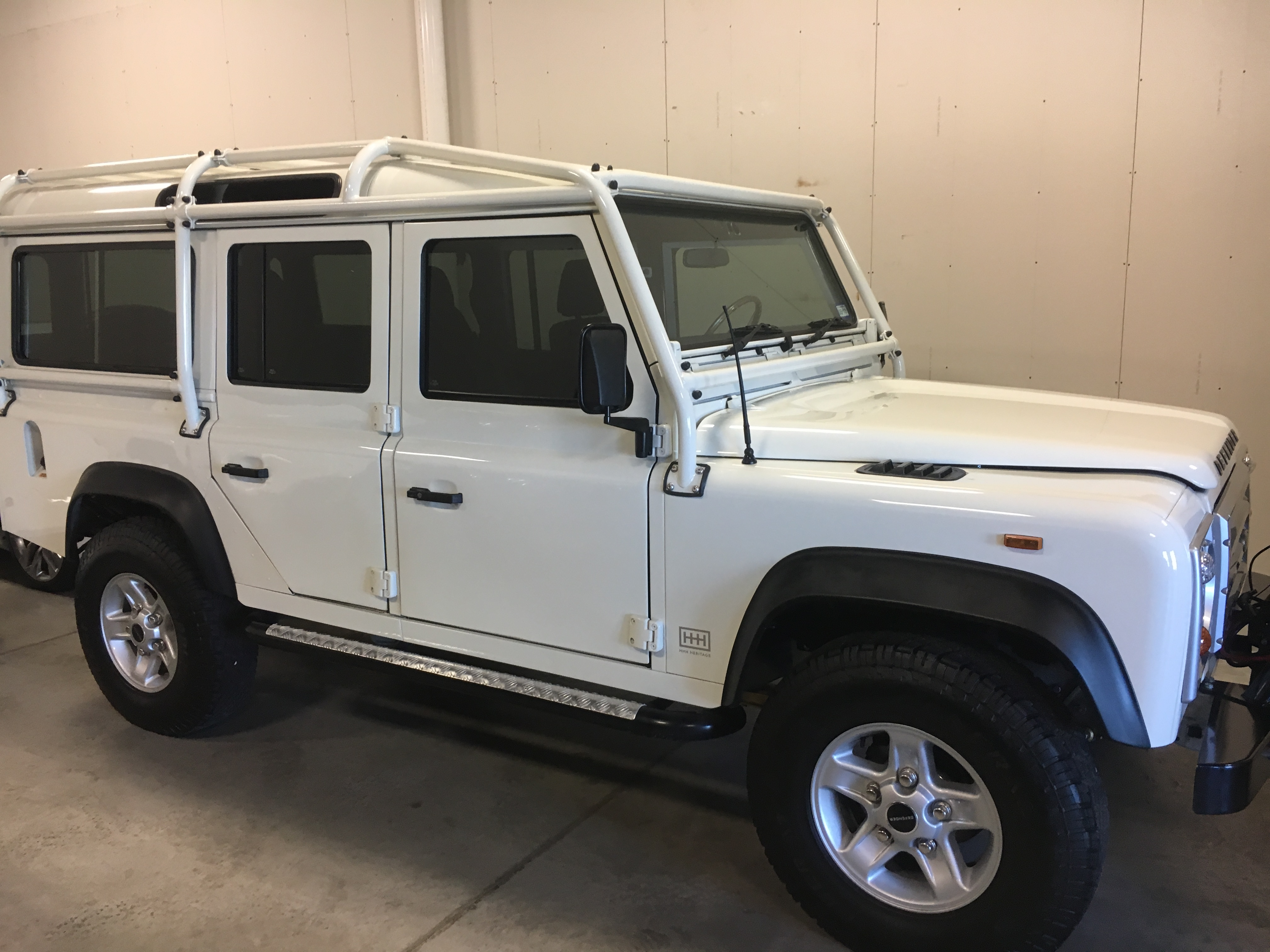land zip alpine full top white copley waterproof upholstery out cage s landrover motorcars soft tires safari rover with defender seat n grey